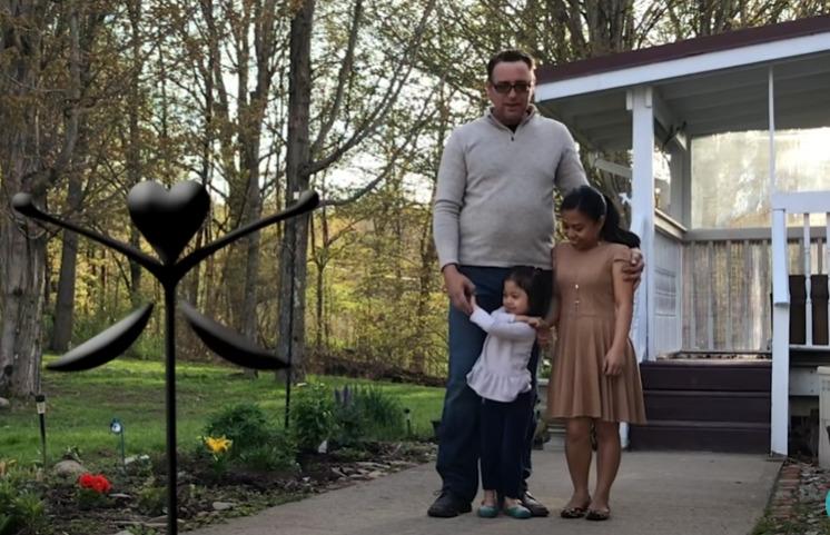 Нанетт Килмер с мужем и дочерью