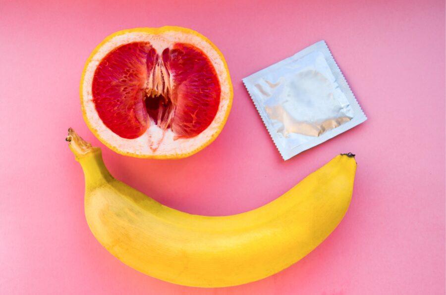 банан грейпфрут и презерватив