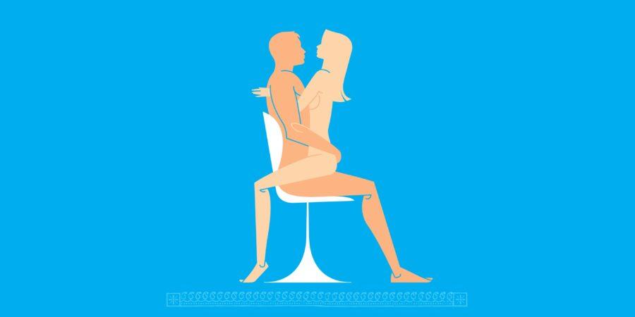 поза в сексе на стуле