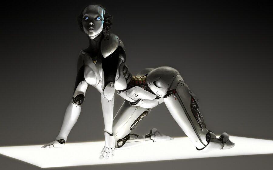 красивая девушка-робот