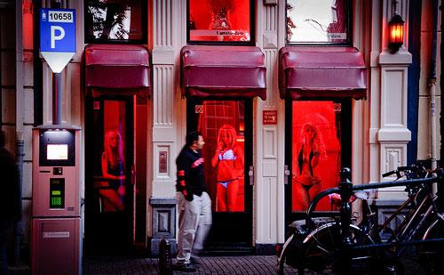 улица красных фонарей в Германии