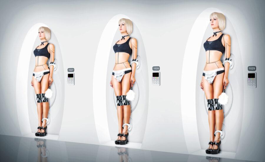 девушки-роботы в белье