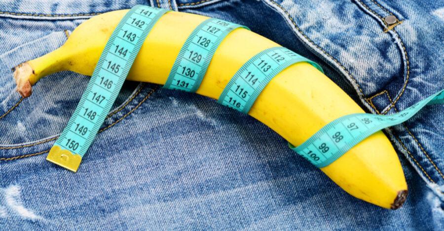 банан обмотанный сантиметровой лентой
