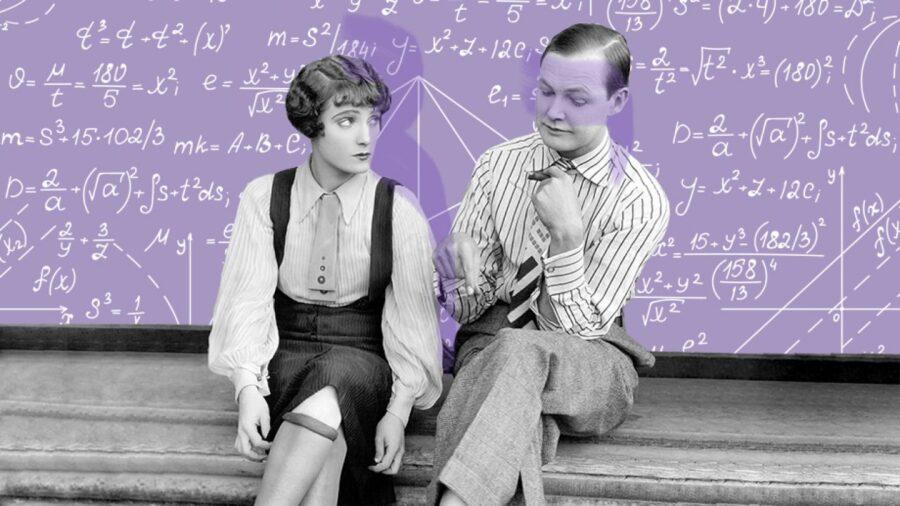 парень и девушка на фоне доски