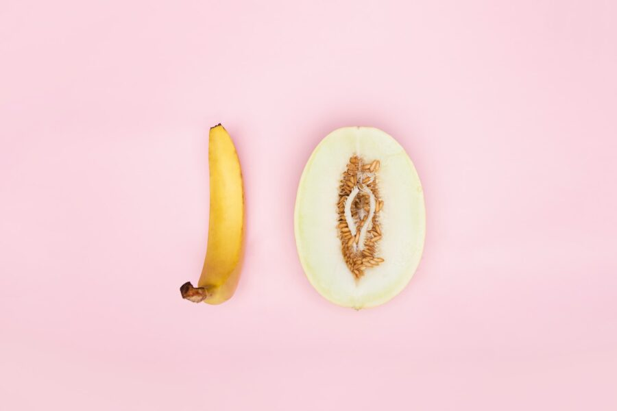банан и дыня