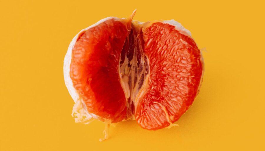 половинка грейпфрута