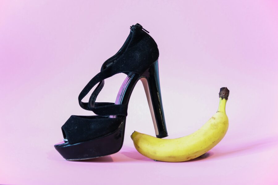 каблук на банане