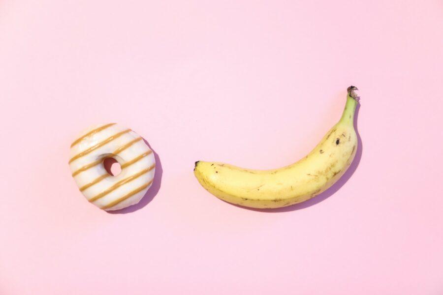 банан и донатс