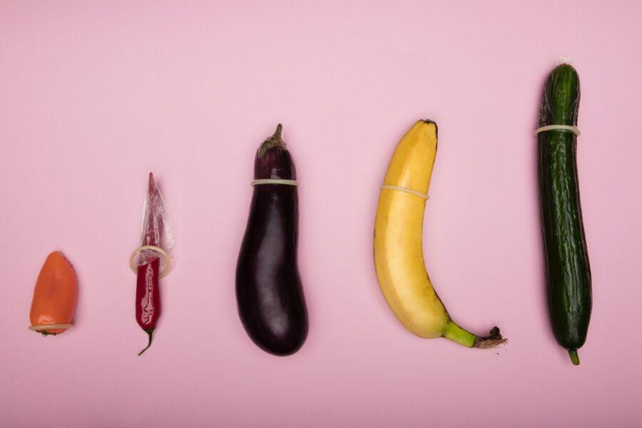 презервативы на овощах