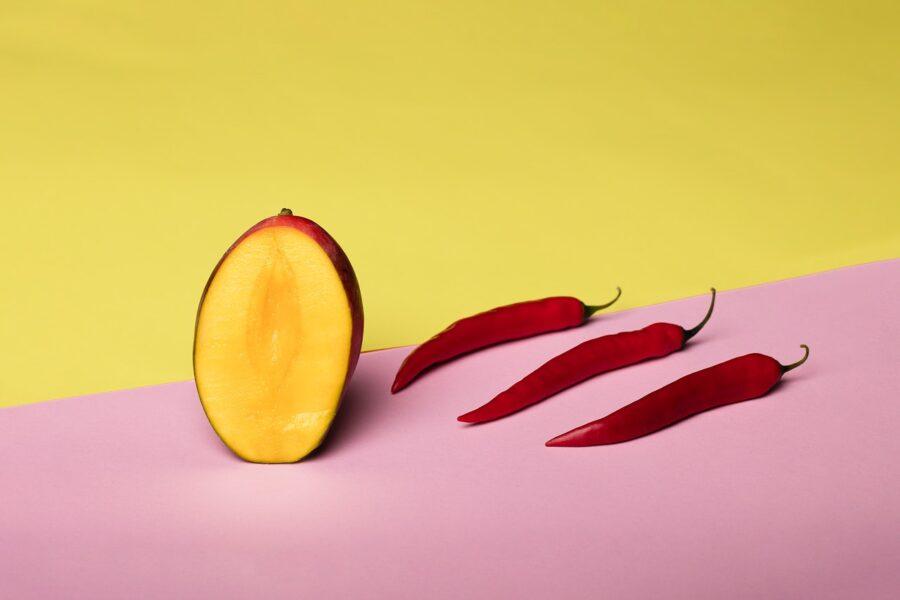 перцы и папайя